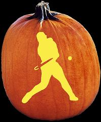 SPOOKMASTER BASEBALL PLAYER PUMPKIN CARVING PATTERN