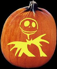 SPOOKMASTER JACK SKELLINGTON NIGHTMARE BEFORE CHRSTMAS PUMPKIN CARVING PATTERN