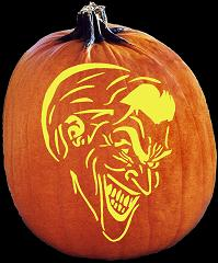 SpookMaster Joker Pumpkin Carving Pattern