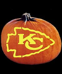 SPOOKMASTER NFL FOOTBALL KANSAS CITY CHIEFS PUMPKIN CARVING PATTERN