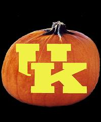 SpookMaster Kentucky Wildcats College Football Team Pumpkin Carving Pattern