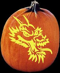 SpookMaster Leviathan Monster Pumpkin Carving Pattern