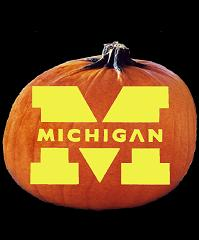 SpookMaster Michigan Wolverines College Football Team Pumpkin Carving Pattern