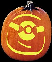 SPOOKMASTER MINION PUMPKIN CARVING PATTERN
