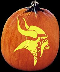 SPOOKMASTER NFL FOOTBALL MINNESOTA VIKINGS PUMPKIN CARVING PATTERN