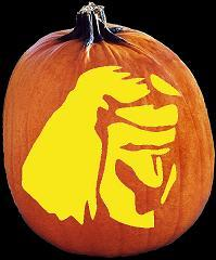 SPOOKMASTER NATIVE AMERICAN INDIAN PUMPKIN CARVING PATTERN