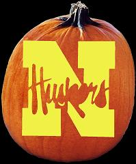 SpookMaster Nebraska Cornhuskers College Football Team Pumpkin Carving Pattern