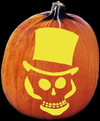 SPOOKMASTER NOT SO MAD HATTER PUMPKIN CARVING PATTERN