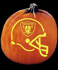 SPOOKMASTER NFL FOOTBALL OAKLAND RAIDERS HELMET PUMPKIN CARVING PATTERN