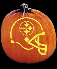 SPOOKMASTER NFL FOOTBALL PITTSBURGH STEELERS HELMET PUMPKIN CARVING PATTERN