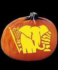 Spookmaster republican elephant pumpkin carving pattern for How to carve an elephant on a pumpkin