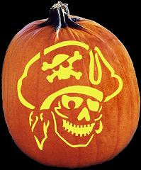 SPOOKMASTER PIRATE PUMPKIN CARVING PATTERN
