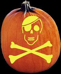 pumpkin template skull and crossbones  SpookMaster - Skull and Crossbones Pirate Pumpkin Carving ...