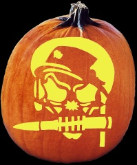 SPOOKMASTER SOLDIER OF MISFORTUNE PUMPKIN CARVING PATTERN