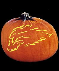 SPOOKMASTER FLAMING SKULL SPEED KILLS PUMPKIN CARVING PATTERN