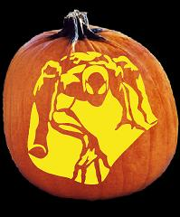 SPOOKMASTER SPIDERMAN PUMPKIN CARVING PATTERN