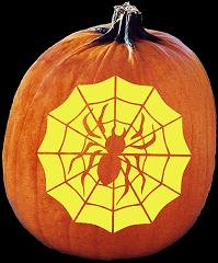 SPOOKMASTER SPIDER WEB PUMPKIN CARVING PATTERN