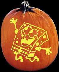 SPOOKMASTER SPONGEBOB SQUAREPANTS PUMPKIN CARVING PATTERN