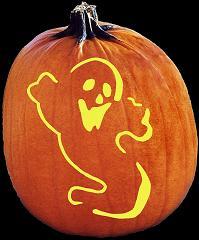 Spook Ghost Pumpkin Carving Pattern - Jack O Lantern Pumpkin Carving ...