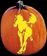SPOOKMASTER HORSE PUMPKIN CARVING PATTERN