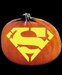 Spookmaster Superman Emblem Pumpkin Carving Pattern