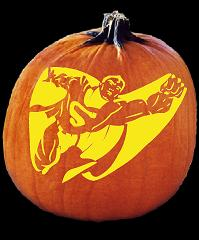 SPOOKMASTER SUPERMAN PUMPKIN CARVING PATTERN