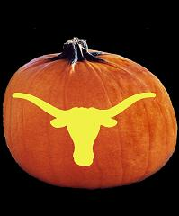 SpookMaster Texas Longhorns College Football Team Pumpkin Carving Pattern