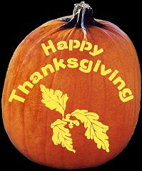 SPOOKMASTER HAPPY THANKSGIVING PUMPKIN CARVING PATTERN