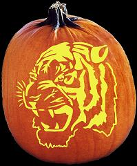 SPOOKMASTER TIGER PUMPKIN CARVING PATTERN