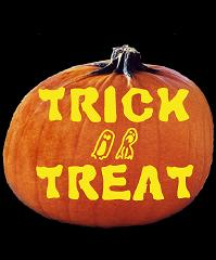 SPOOKMASTER TRICK OR TREAT PUMPKIN CARVING PATTERN