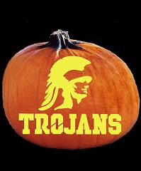 SpookMaster USC Trojans College Football Team Pumpkin Carving Pattern