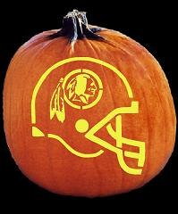 SPOOKMASTER NFL FOOTBALL WASHINGTON REDSKINS HELMET PUMPKIN CARVING PATTERN