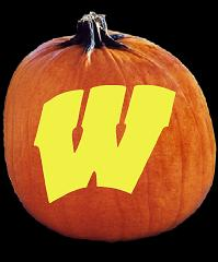 SpookMaster Wisconsin Badgers College Football Team Pumpkin Carving Pattern